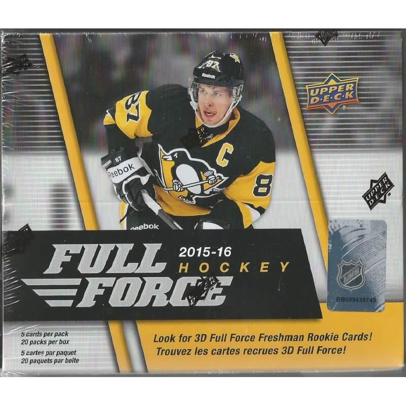 2015-16 Upper Deck Full Force Retail 20 Pack Box