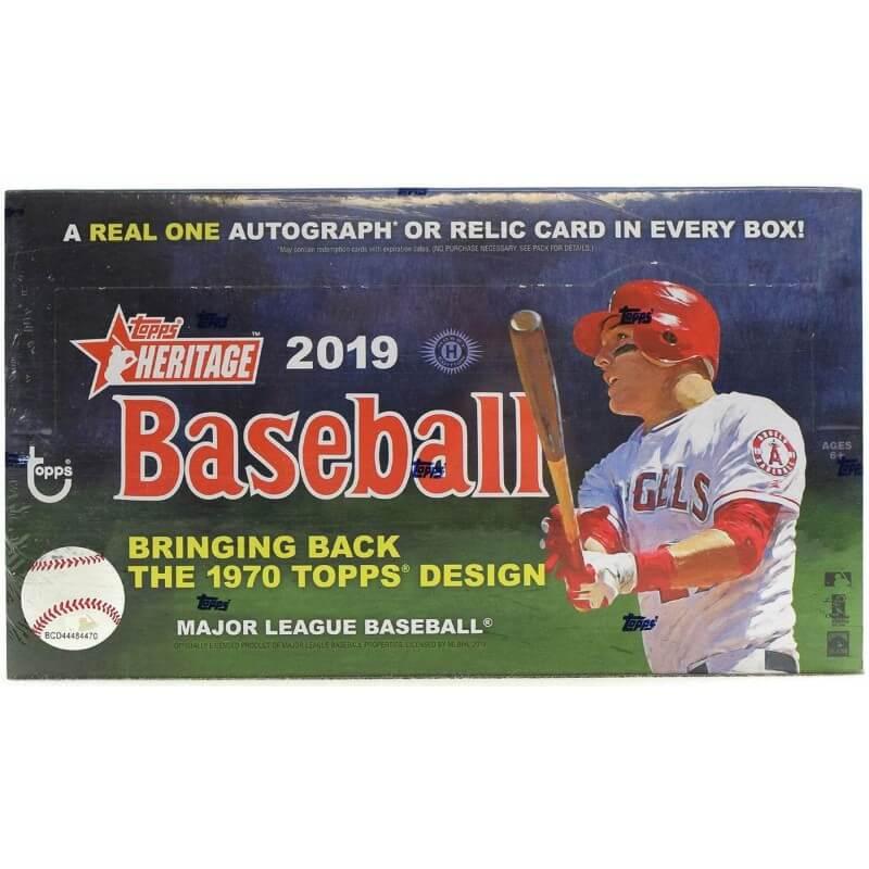 2019 Topps Heritage Baseball Hobby Box Canada Card World
